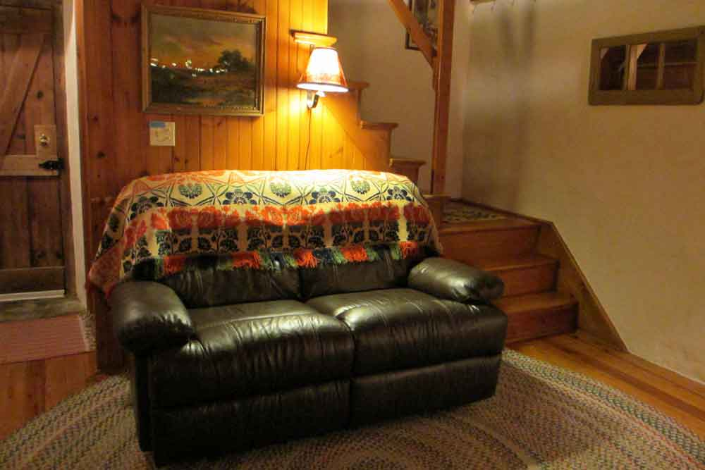 Comfy couch in the Spring House